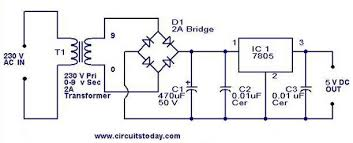 5v power supply using 7805 ic circuit diagram 5v regulator using 7805 jpg