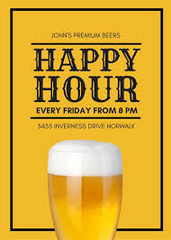 Work Happy Hour Invite Wording Customize 171 Happy Hour Flyer Templates Online Canva