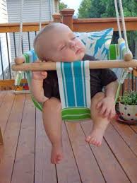 DIY Baby Swing. One day when I have a good place to hang it. I'll ...