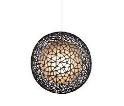 round pendant lighting. C-U C-Me Hanging Lamp Round Large By Kenneth Cobonpue | General Lighting Pendant N
