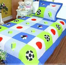 football bedding free export boys football applique bedding set soccer handmade applique patchwork quilt bedspread
