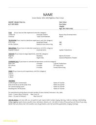 Beginner Acting Resume Template Updated Actors Resume Template