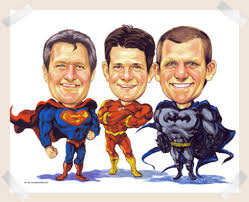 super heros fun caricature from photo gift idea