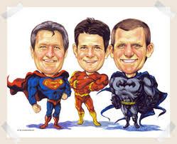 super heros fun caricature from photo gift idea