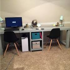Office desk for two people Side By Side Pinterest 79 Best Person Desk Images Desk Home Decor Home Office