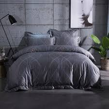2017 new europe luxury bedding sets king queen size 100 egyptian cotton grey duvet cover