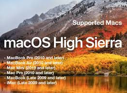 Os X Sierra Compatibility Chart Macos High Sierra Compatible Macs List Osxdaily