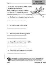 Writing Process: Edit, Apostrophe 1st - 2nd Grade Worksheet ...
