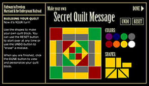 Pathways to Freedom | Secrets: Language, Signs and Symbols | Make ... & Make Your Own Secret Quilt Message Adamdwight.com