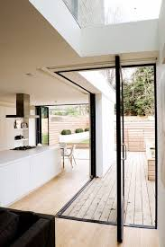 Minimalist Wood Indoor Outdoor Kitchen Decor