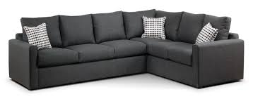 Small Picture Athina 2 Piece Left Facing Queen Sofa Bed Sectional Charcoal