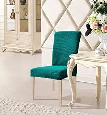 dyfun jacquard spandex stretch dining room chair slipcovers 2 blue
