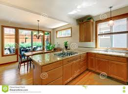 White Kitchen With Hardwood Floors Brown And White Kitchen Room With Hardwood Floor Cabinets And