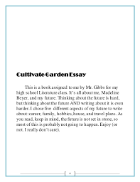 cultivate garden essay 5 4 cultivate garden essay
