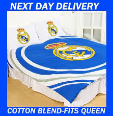 real madrid football club cotton blend queen doona quilt duvet cover