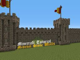 how to make a stone fence in minecraft. Medieval Stone Walls | Minecraft Tutorial Part One How To Make A Fence In R