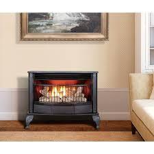 free standing ventless propane fireplace