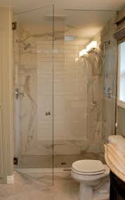 master bathroom remodel using oregon tile and marble with glass shower door and bathroom vanity