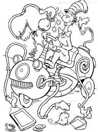 Small Picture Cat And The Hat Coloring Pages Free Images Coloring Cat And The