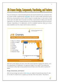 Free Standing Jib Crane Design Jib Cranes Design Components Functioning And Features By