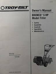 troy bilt bronco rototiller manual