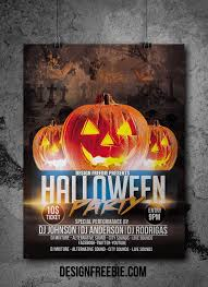 halloween party flyer template free halloween party flyer psd template free flyer design templates