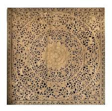 large grand carved wooden wall art or ceiling panel round wood teak panels for stylish reclaimed brown wooden wall art