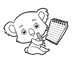 coloring book koala stock vector ilration of outline 105113922