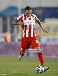 Jose Cholevas of Olympiacos in action during the Superleague match... News  Photo - Getty Images