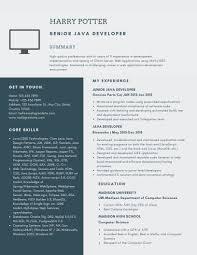 Senior Java Developer Resume Example