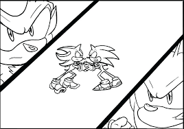 Super Sonic Coloring Pages Shadow The Hedgehog Coloring Pages Super