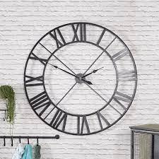 extra large black skeleton wall clock
