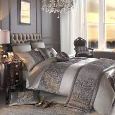luxury satin designer bedding duvet quilt cover truffle grey silver covers twin xl white double