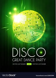 Green Party Flyer Disco Party Flyer Templatr With Mirror Ball Stage