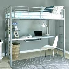 metal loft bed with desk bed with desk metal loft bed with desk underneath twin size