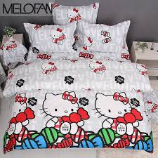 kitty otoole elegant whimsical bedroom: i love you gray hello kitty bedding set