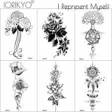Ioridyo черный браслет на запястье временная татуировка женская боди арт наклейка