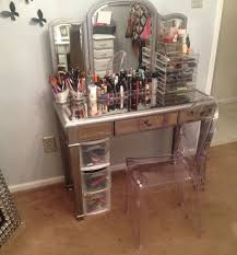 mirror vanity table. mirrored vanity desk organizer mirror table