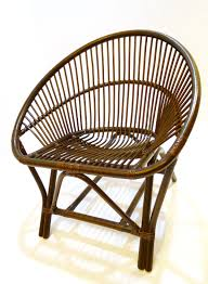black lacquered clam rattan chair furniture home décor fortytwo
