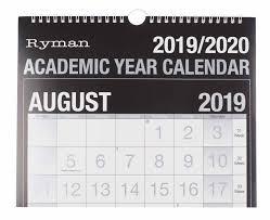 Ryman Academic Calendar Easy View 2019 2020