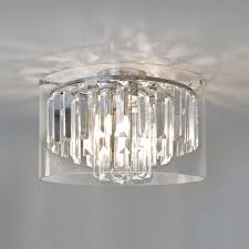 crystal bathroom ceiling light with lighting 11 contemporary lights for and 8 glass droplets polished chrome finish shades construction protection from