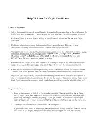 Boy Scout Letter Of Recommendation For Eagle Scout Writing Hints Background Information Statement Of Eagle Scout