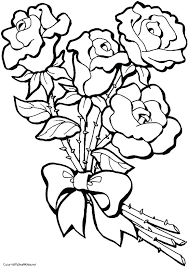 Flower Coloring Pages Printables Ionheater