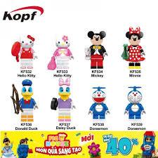 Non-LEGO] Các Nhân Vật Doraemon, Mickey, Donald KF6041 - Đồ Chơi Xếp Hình  Lắp Ráp [C3], Giá tháng 12/2020
