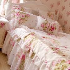 s v luxury korean fl bedding sets pink bedclothes shabby chic