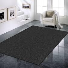 prestige 2839 polypropylene machine knotted modern rug black