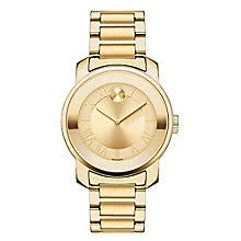 movado watches ladies men s movado designer watches ernest jones movado bold ladies gold plated champagne bracelet watch product number 3573702