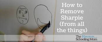 how to remove sharpie from all the things