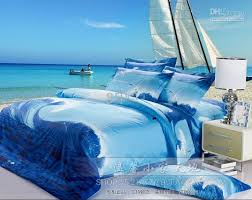 ocean by size blue seagull ocean comforter bedding set queen size comforters sets