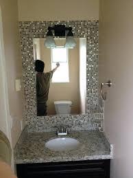 bathroom mirror frame tile. Beautiful Tile Bathroom Mirror Mosaic Frame Tile Framed Diy   With Bathroom Mirror Frame Tile